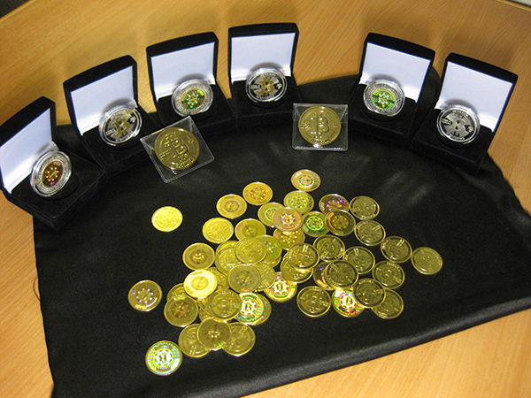 Bitcoin currency: fancy coin presentation